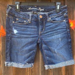 American Eagle Bermuda dark wash shorts